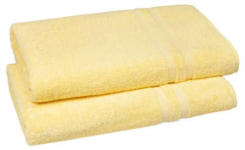 ZOLLNER 2 Toallas de Sauna, Toallas de baño, Amarillas, 70x180 cm