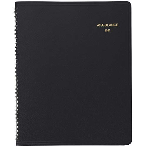 2021 Monthly Planner by AT-A-GLANCE, 9' x 11', Large, 15 Months, Black (702600521)