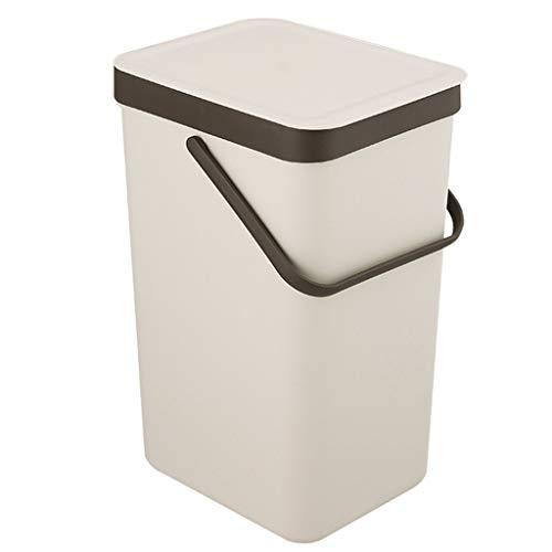 YULAN vuilnisemmer, keuken, prullenbak met deksel, grote sortering van de vuilnisbak, draagbaar, hygiënisch opbergen, kunststof buis