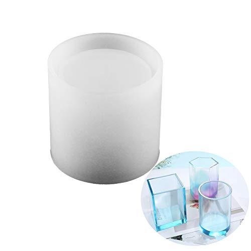 Grande stampo in silicone fai da te per portapenne multifunzione, stampi in silicone, stampi per vaso di fiori, stampi per vaso di fiori, stampi per portapenne, rotondi