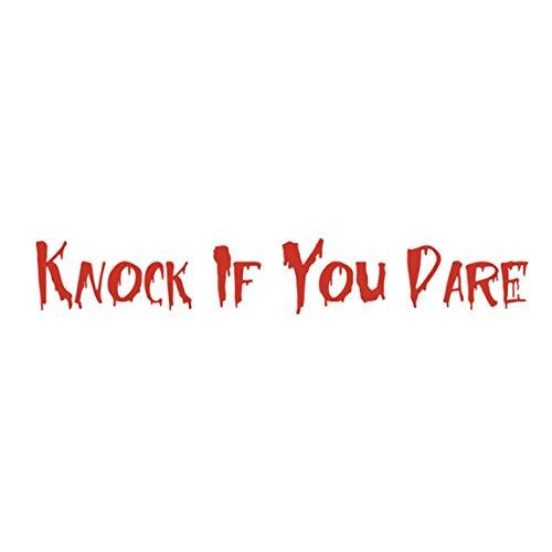 SeniorMar-UK Rote englische Alphabet Wandaufkleber Landschaftsbau Schlafzimmer Dekorationen wasserdichte Halloween Wand mit Transfer Film Wandaufkleber