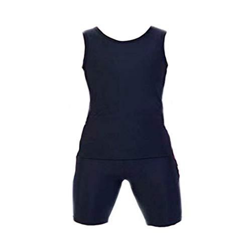 Flat Tomboy Compression Elastic Band Chest Binder Swimsuit Shirt Trunk Lesbian (Balck, US S(Asin X))