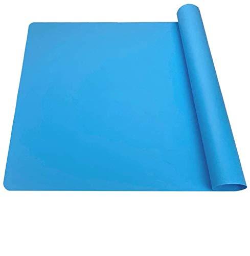 POFET 2 Alfombrillas de Silicona Extra Grandes, Almohadillas de Silicona de Grado alimenticio, inodoras, manteles Individuales para Mascotas, Protector de encimera para Manualidades,Color Azul