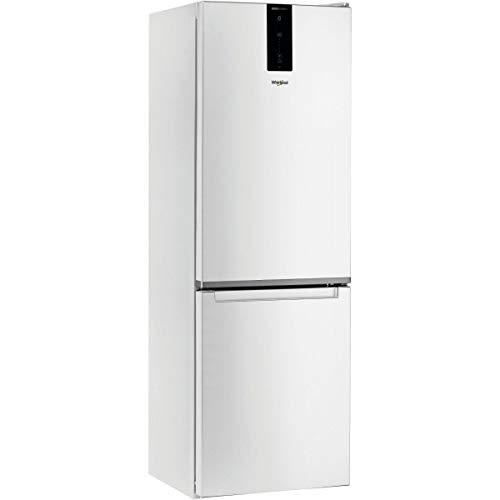 Réfrigérateur Combiné Whirlpool W7821OW - Réfrigérateur congélateur bas 338 litres - Blanc - Total No Frost - 6ème Sens Fresh Control - Frigo 234 L + Congel 104 L - Dégivrage automatique