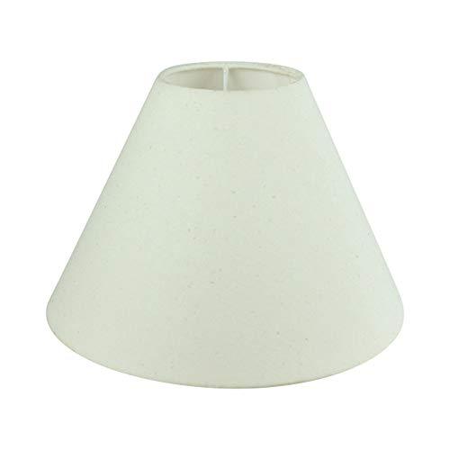 Wogati Premium Lampenschirm 20 cm x 16 cm x 9 cm / Beige / Ivory / Elfenbein / Stoff / E14 / E27