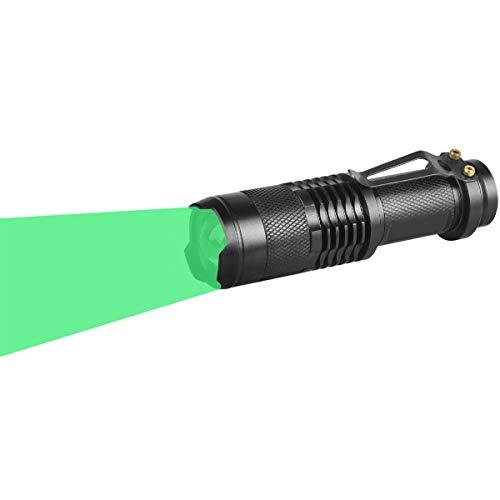 WAYLLSHINE Single Mode Green LED Flashlight, Hunting Light Mini Green Light Flashlight, 1 Mode Green Flashlight, Green Flashlight Torch for Hunting Night Observation