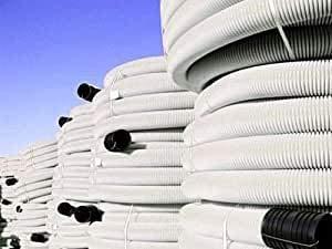 Tubo corrugado de doble pared, instalación eléctrica, longitud 50 m, diámetro 160...