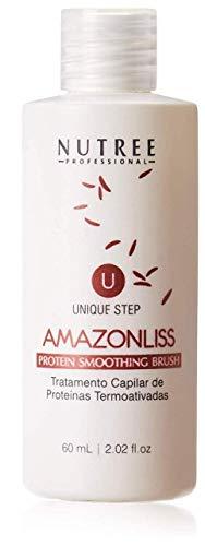 Amazonliss Keratin One Step Haarglättung - Brasilianische Proteinbehandlung - 1 Schritt Proteinglättungsbürste - Neue Formel - Geruchsfrei - Formaldehydfrei - 60 ml