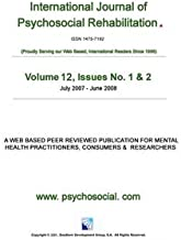 International Journal of Psychosocial Rehabilitation - Volume 12