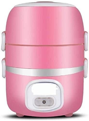 Mr.T Elektro-Heizung Lunchbox Elektro-Lunch Box Steckbare Heizung Automatische Isolierung Tragbare Anti-Dry Multi-Function Kleiner Kochtopf, Rosa, Farbe: Kaffee Selbsterhitzung isolierten Lunchbox