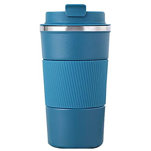 HOT-FEELING Tazza termica da 510 ml con coperchio a prova di perdite, in acciaio inox, a doppia parete, isolata, per caffè e tè