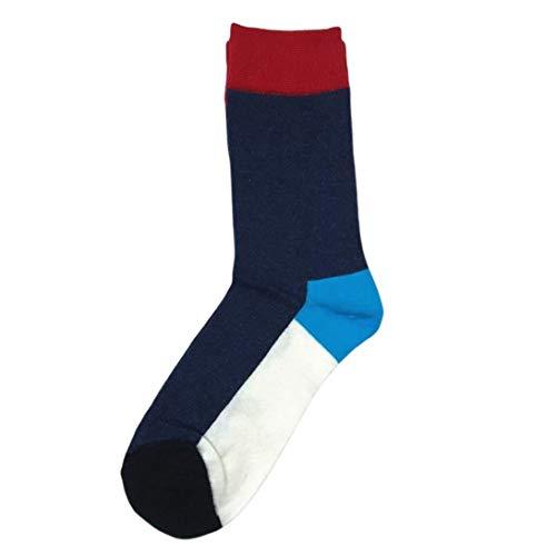CING 1 paire de chaussettes Hombre Happy en coton et calcetines à rayures pour homme et femme, Homme, 172B.