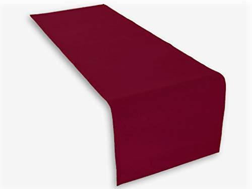 Hochwertiger Tischläufer aus Baumwolle. Tischtuch, Tischdecke. Große Auswahl an Farben. (Weinrot)