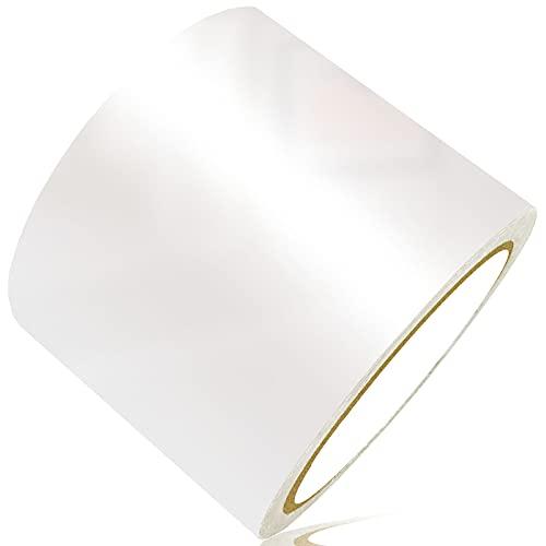 LANUCN Cinta de Reparación de PVC - 8 cm x 10 m, Transparente Parche para Lonas, Cubierta de Remolque, Invernadero, Toldo, Carpa, Tienda Campaña y Persianas