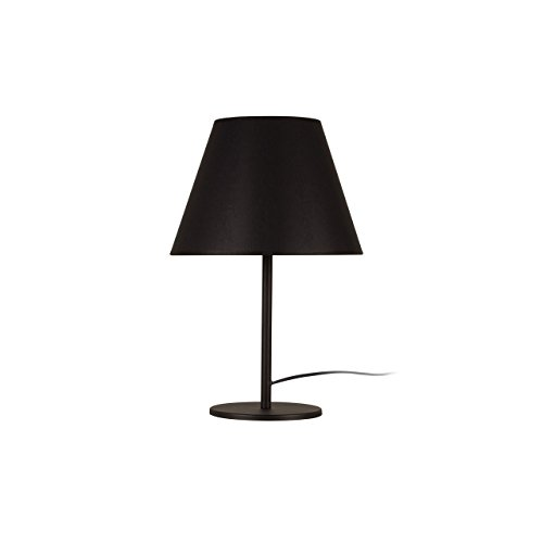 Homemania Moderne tafellamp, metaal, zwart, 47 cm, lampenkap: 30 x 23 cm, kabel 180 cm, 17 stuks