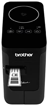 Brother P-touch PTP750W Wireless Label Maker NFC Connectivity USB Interface Mobile Device Printing Black
