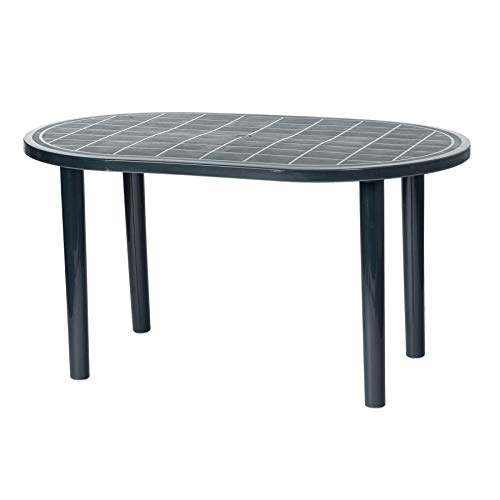 Resol Gala Outdoor Garden Dining Table - UV Resistant Patio Furniture - Grey - 140 x 90cm