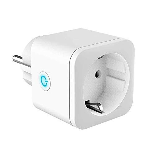 Enchufe de la UE, Enchufe remoto inalámbrico WIFI Smart Timer Plug, App Sincronización en tiempo real Control de voz EU Home Fire Retardant PC Smart Power Socket