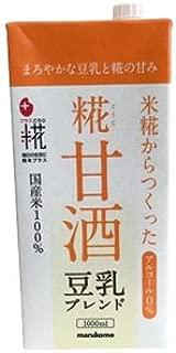 マルコメ プラス糀 糀甘酒LL 豆乳ブレンド 1000ml紙パック×6本入×(2ケース)