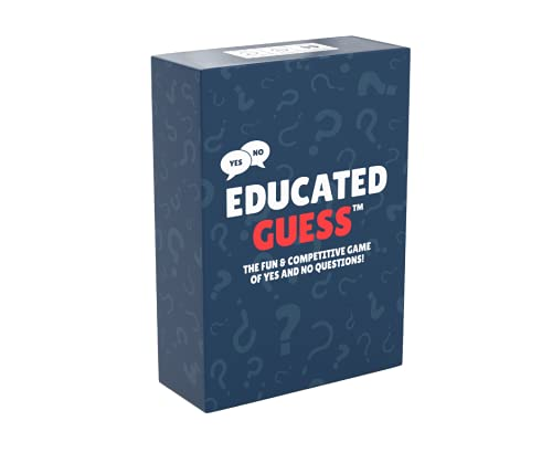 Educated Guess - The Game of Yes Or No Questions - Party Game Night - Family Game Night - Card Games
