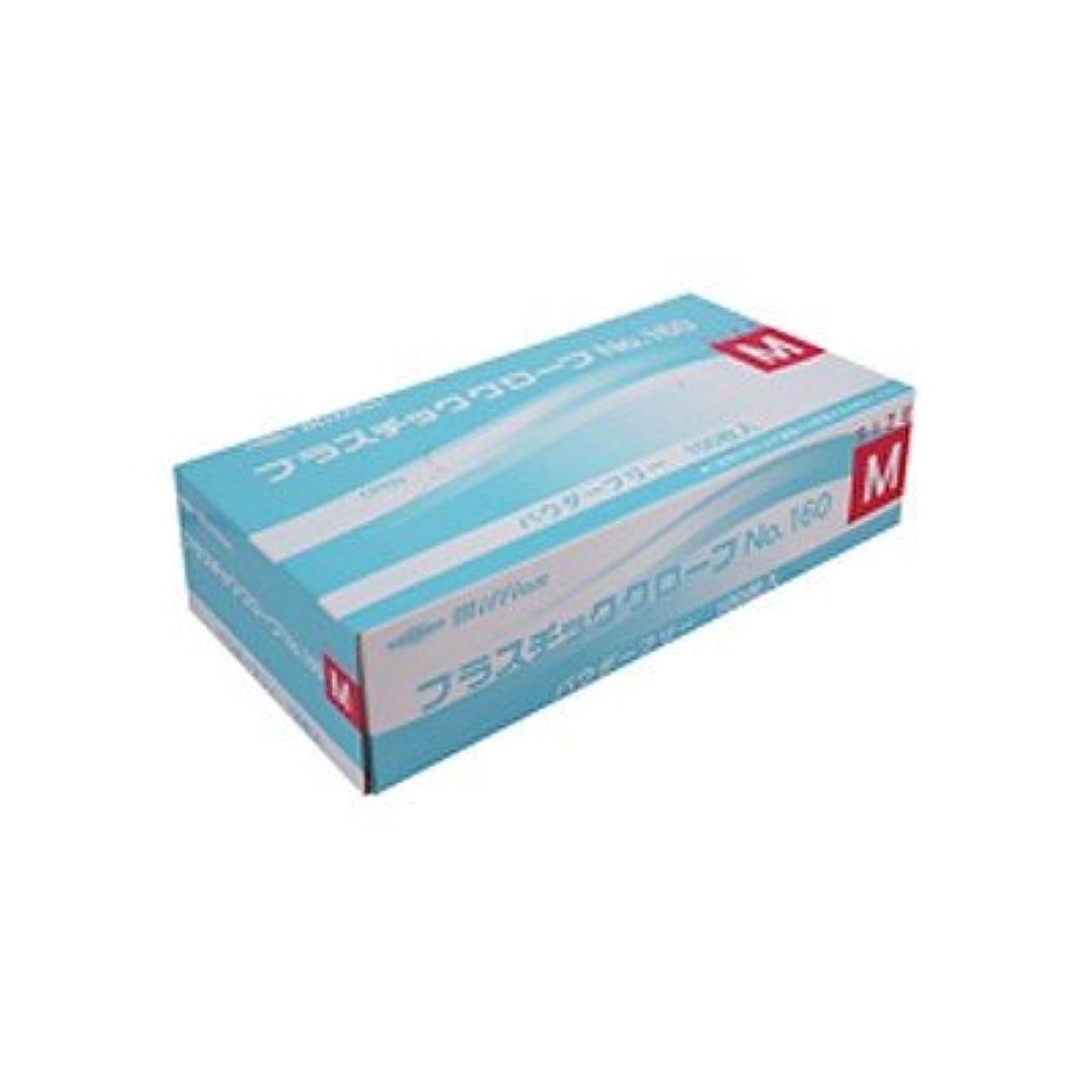 塗抹水警告するミリオン プラスチック手袋 粉無 No.160 M 品番:LH-160-M 注文番号:62741606 メーカー:共和