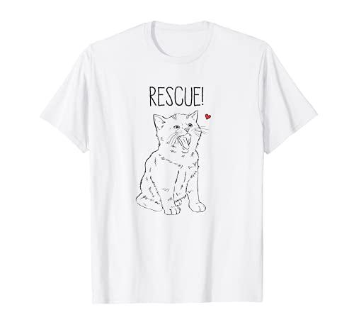 Rescate Gato, Rescate Animal, Lindo Gatito, Mascota de acogida, Gato Mamá Camiseta