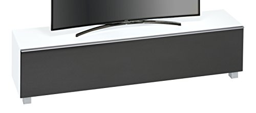 MAJA Möbel SOUNDCONCEPT Glass 7738 Soundboard Weißglas matt-Akustikstoff schwarz, Abmessungen (BxHxT):180,20 x 43,30 x 42 cm, Glas, 20 x 42 x 43,30 cm