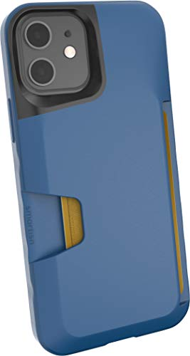 Smartish iPhone 12/12 Pro Wallet Case - Wallet Slayer Vol. 1 [Slim + Protective] Credit Card Holder (Silk) - Blues on The Green