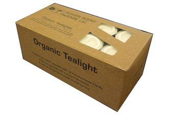 Heaven Scent Organische Teelichter, ohne Duft, 24 Stück