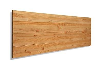 Cabeceros de madera para camas de 135, estilo nordico Cabeceros de lamas de madera de pino, con herrajes para anclar a la pared Cabezales de cama para dormitorios juveniles y de matrimonio Cabezal con estructura de tablas de madera de pino de alta ca...