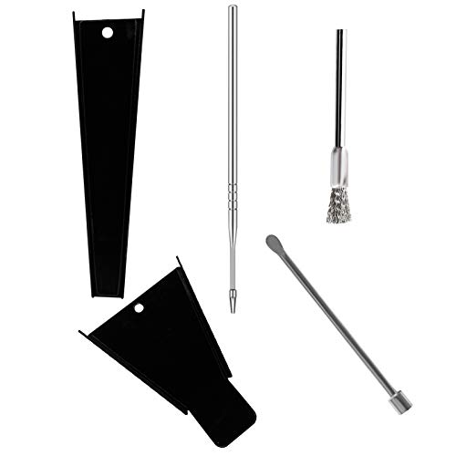 Cone Loader King Size 1 1/4 Cone Funnel Pocket Size Tool | Fill and Pack Hemp Cones in Seconds | Load Pre-Rolled Raw Organic Extract Pre Rolled Filling | Packing Stick Packer | Grinder Brush Cleaner