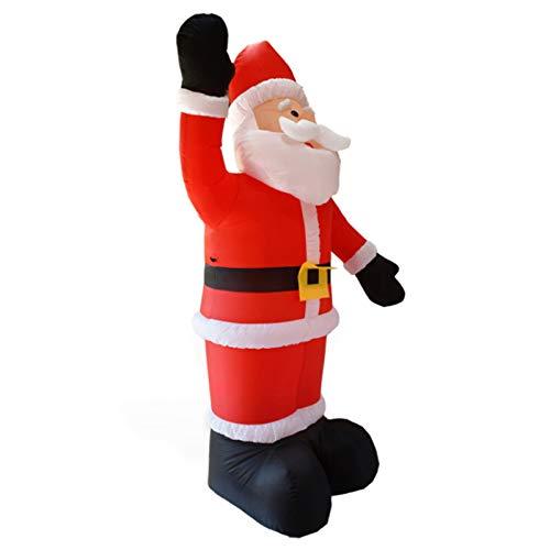 Wsaman 7.9Ft Aufblasbare Welle Weihnachtsmann, Weihnachts Garten-Dekoration Große Ferien Props Weihnachtsmann Modell Mit Hellen LED-Licht Für Yard/Party/Indoor/Outdoor/Rasen