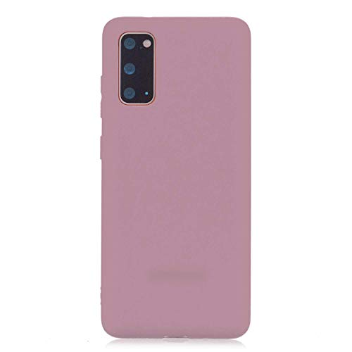 cuzz Funda para Samsung Galaxy S20 Plus+{Protector de Pantalla de Vidrio Templado} Carcasa Silicona Suave Gel Rasguño y Resistente Teléfono Móvil Cover-Rosa