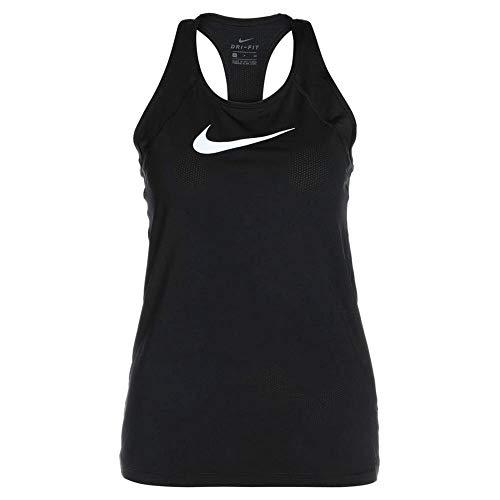 Nike Damen Tanktop All Over Mesh, Black/White, S, 889542-010