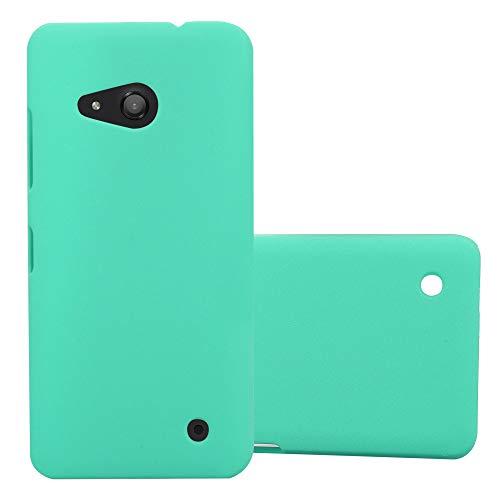 Cadorabo Custodia per Nokia Lumia 550 in FROSTY VERDE - Rigida Cover Protettiva Sottile con Bordo Protezione - Back Hard Case Ultra Slim Bumper Antiurto Guscio Plastica