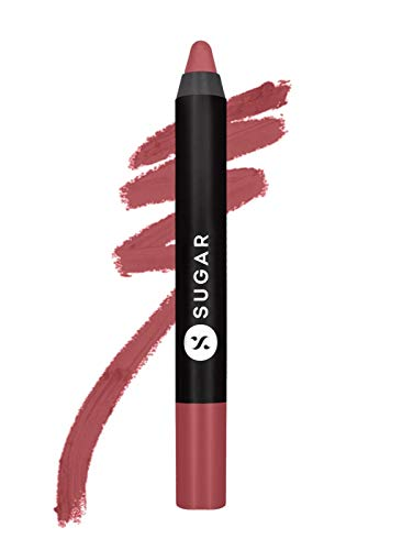Sugar Cosmetics Matte As Hell Crayon Lipstick07 Viola (Mauve Nude)Highly pigmented, Creamy Texture, Long lasting Matte Finish