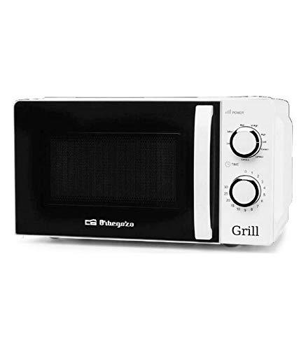 Orbegozo MIG 2130 Microondas con grill con 20 litros de capacidad, 5 niveles de funcionamiento y 3 funciones combinadas, temporizador hasta...
