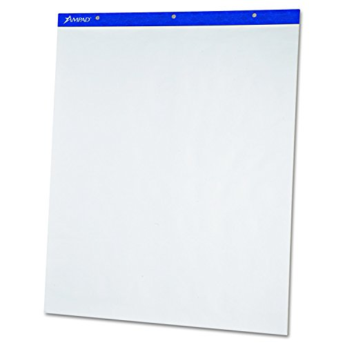 Ampad 24038 Flip Charts, Unruled, 20 x 25 1/2, White, 50 Sheets (Pack of 2)
