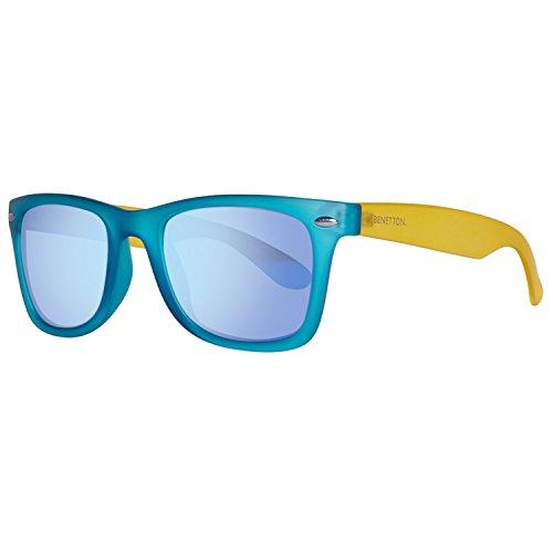 United Colors of Benetton BE986S02 Gafas de sol, Azure/Yellow, 50 Unisex