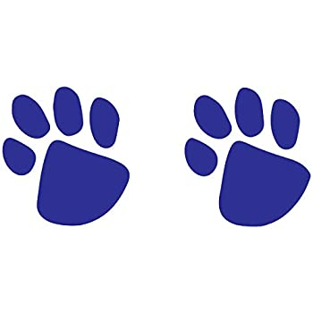 Blue Paw Prints Temporary Tattoos  10-Pack    Skin Safe   MADE IN THE USA  Removable