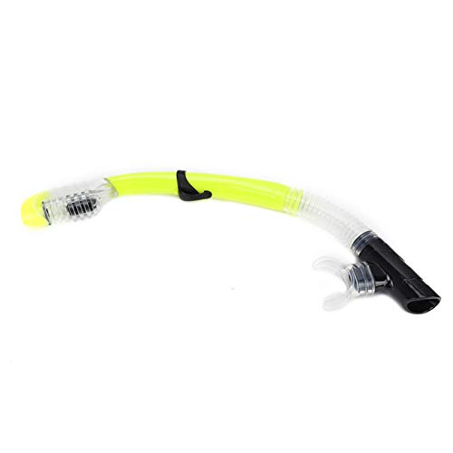 Shipenophy Equipo de Entrenamiento con Tubo de respiración Desmontable fácil de Limpiar de 19,3 Pulgadas, para bucear, bucear, Nadar(Light Yellow)
