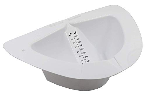 Comfort Axis Slanted Specimen Collector Pan with Graduations, 32 Ounces, 2 Pack, White