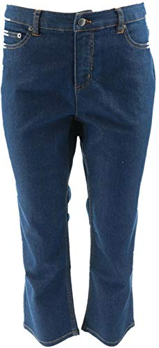 LIZ CLAIBORNE NY Jackie Straight Leg Ankle Jeans Med Indigo 14P # A261295