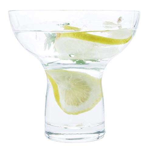Margarita Glasses Stemless Large Thick Solid Clear Glass, 16 Ounces (4)