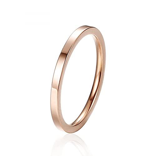 Anillos apilables de acero inoxidable para nudillos, anillo de boda apilable fino de acero inoxidable, varios tamaños.