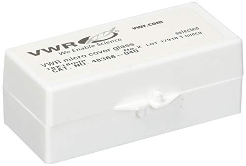 VWR 48368-040 Micro Cover Square, 18 mm Width, 18 mm Length, Glass (Pack of 1)