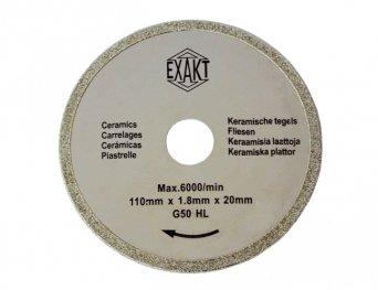 Sägeblatt G50 für Fliesen | Präzisions-Kreissägeblatt z. B. für Handkreissäge Exakt DC-270 | 110 mm Durchmesser, 10 Stück