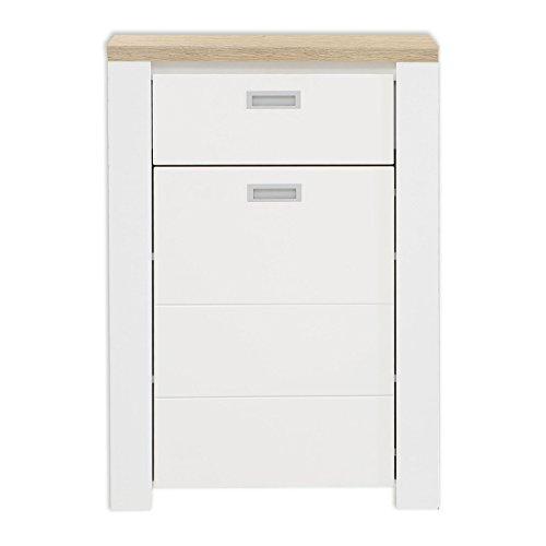 ROLLER Schuhkommode - weiß-Eiche Bianco - 68 cm breit
