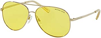 Michael Kors Kendall Golden Yellow Solid Aviator Ladies Sunglasses