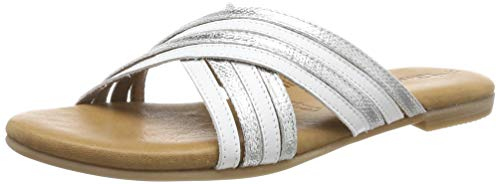 Tamaris Damen 1-1-27152-32 Pantoletten, Weiß (White/Silver 191), 39 EU